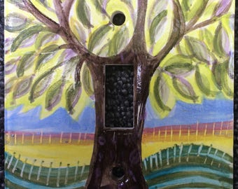 Tree Ceramic Light Switch Plate Cover
