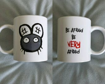 Hand painted mug inspired by The Fly