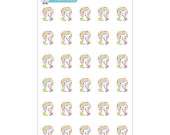 Clean Unicorn Planner Stickers