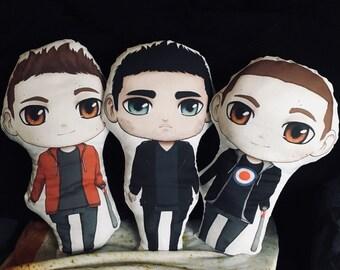 Stiles and Derek plushie pillows