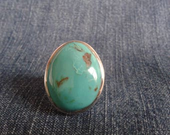 Stunning Turquoise and Sterling Silver Statement Ring