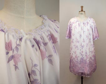 1960s Floral Nightgown