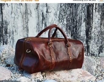 ON SALE Genuine Leather Travel Bag, Weekend bag, Leather Duffel Bag,Handbag,Cabin Travel Bag, Women Duffel Bag, Mens Duffel Bag  - Julius Ca