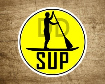 "Stand Up Paddle Board SUP Vinyl Sticker Decal 3"" x 3"""