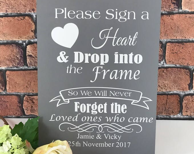 Personalised sign our Guestbook plaque