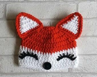 CROCHET FOX PATTERN digital girl fox hat pattern crochet patterns girls crochet fox hat pattern