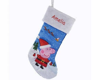Personalized Peppa Pig Christmas Stocking