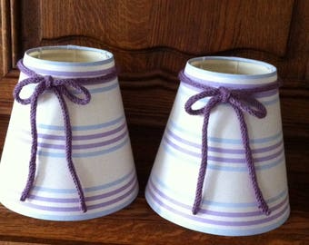 Lampshade ticking stripe, knitted bow