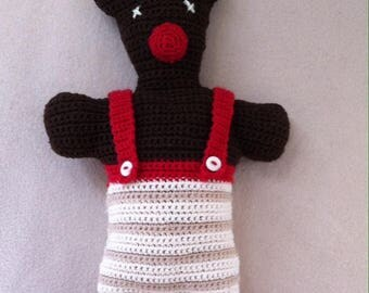 crochet blanket Red-Nosed Reindeer