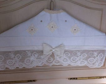 Coat rack hanger cover romantic shabby chic