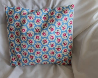 Blue Provence rose cushion cover from Cath Kidston material, 18 x 18 inch, enveloped back, home decoration, decorative pillow, living room