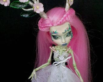 Monster High repaint, Monster High OOAK, Monster High custom of Lalarossa, Skelita