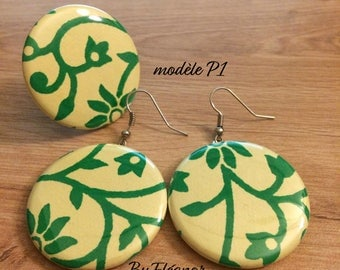 (Ref P1) earrings and ring set