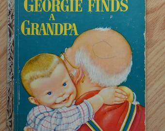 1954 Walt Disney's Georgie Finds A Grandpa First Edition Little Golden Book