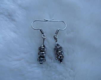 crystal beaded charm earrings