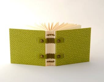 Small book bag, mini, Coptic binding guestbook, for her, small journal, notebook, book, notebook