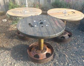 Cable Reel Table Etsy