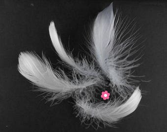 x 10 gray 4-10cm (63F) goose feathers
