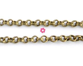 x1m bronze mesh chain round 2mm (10A)