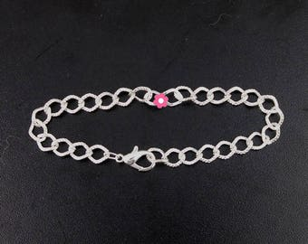 x 5 hook 20cm (10A) silver plated lobster clasp chain Bracelet