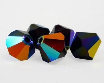 Jet AB2X - 3mm, 4mm, 6mm, 8mm - Swarovski Crystal Bicone