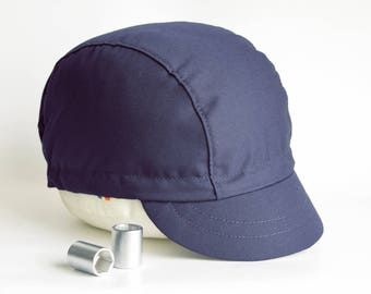 Navy blue cycling cap, Fixed gear cycle hat, Cap for cyclists
