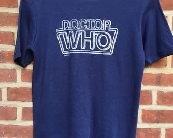 Vintage Doctor Who t shirt 1981 paper thin BBC mens Small Dr. Who