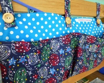 Bunk or cabin bed organiser pockets: custom made for you