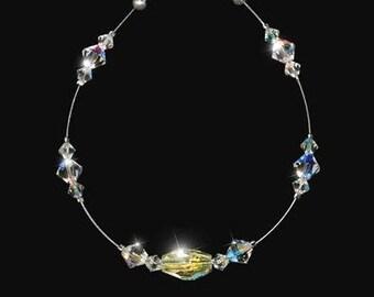 DONNATELLA bridal bracelet, clear AB Swarovski crystals