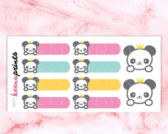 20% OFF A017   Panda stickers, label stickers, animal stickers, functional stickers, pastel stickers, planner stickers, eclp sticker, bullet