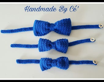 Bow tie crochet - baby child adult - boy man - accessory - birth gift or anniversary - ideal christening