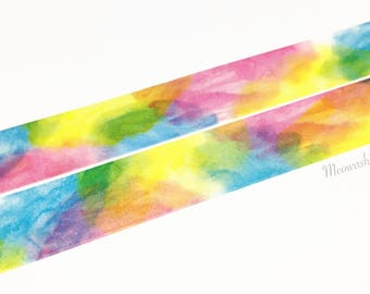 Mind Wave - Watercolor rendering washi tape (T01168)