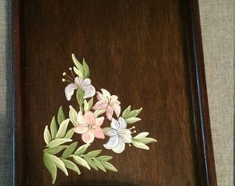 ON SALE Wooden Tray  11 X 7 X 1
