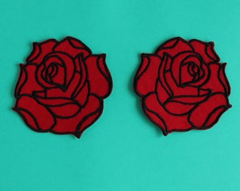 Double Rose Shoulder Patches
