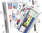 Independence July Monthly View Planner Kit | ~200 Stickers | Planner Stickers | For Erin Condren LifePlanner