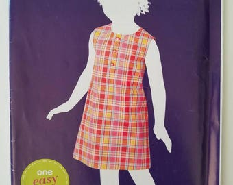 Girl jumper pattern size 3-6 Simplicity Sew Simple A1836 new uncut