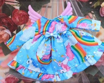 Dress Unicorn Sky Blue Wings