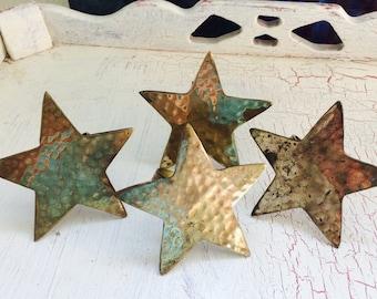 Brass Star Napkin Ring Holder, Christmas Star Metal Napkin Rings, Texas Star