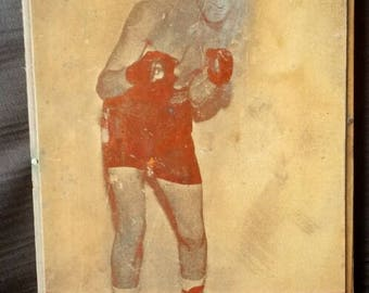 Rocky Marciano 1940s Letterpress Copper Photo