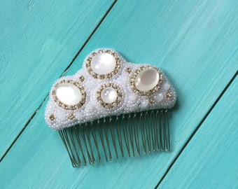Bridal hair comb | Wedding hair comb | Pearl bridal comb | Ivory beaded wedding comb | Rhinestone wedding comb | Wedding head piece
