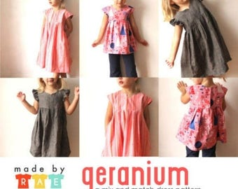 ON SALE 10% Off The Geranium Dress Pattern - by made by rae - UK Seller