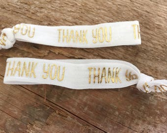 Thank You hair ties// Thank You gift// thank you elastic hairties// party favor hair tie