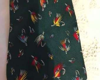 Gone Fishing brand Necktie . Creative American Design by Alynn Neckwear.