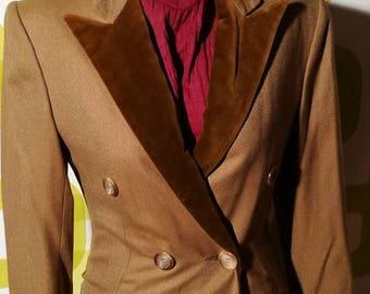 Vintage woman Coat of 1980 wool, vintage coat, free shipping