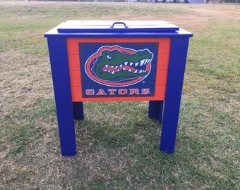 Painted Florida Gators cooler stand