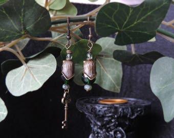 "Victorian ""Secret Garden of Poisons"" earrings"