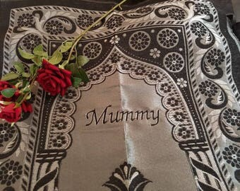 Personalised travel light musallah prayer mat embroidered with any name