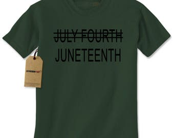 Juneteenth (July Fourth Crossed Out) Mens T-shirt
