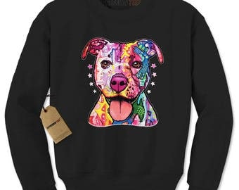 American Pitbull Graffiti Adult Crewneck Sweatshirt