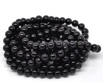 10 pearls 10mm black glass